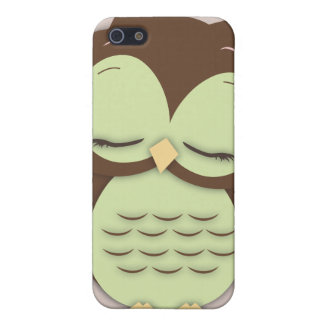 Cute Little Sleepy Hoot Owl in Mint Green Cases For iPhone 5