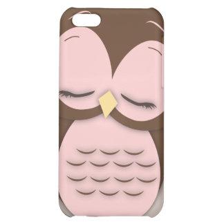 Cute Little Sleepy Hoot Owl in Sweet Pink iPhone 5C Cover