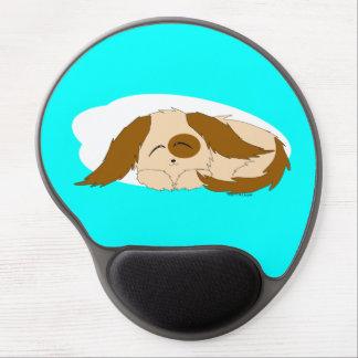 Cute Little Sleepy Puppy Dog Gel Mouse Pad