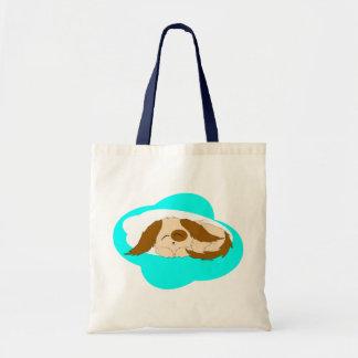 Cute Little Sleepy Puppy Tote Bag