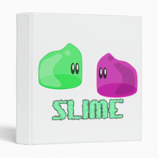 cute little slime 3 ring binder