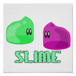 cute little slime posters
