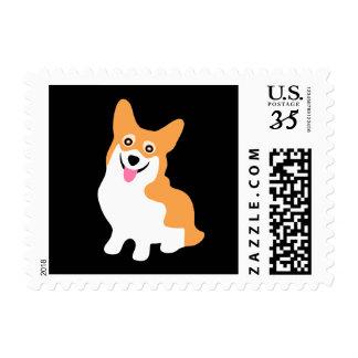 Cute Little Smiling Corgi Puppy Postage