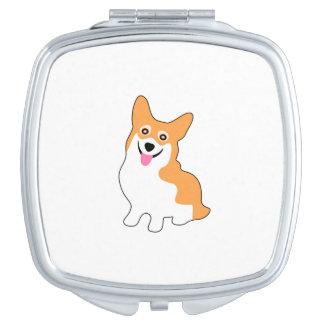 Cute Little Smiling Corgi Puppy Vanity Mirror