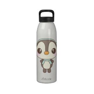 cute little snow day penguin cartoon drinking bottles