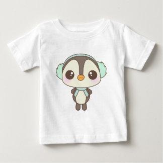 cute little snow day penguin cartoon baby T-Shirt
