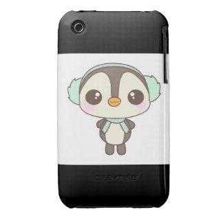 cute little snow day penguin cartoon iPhone 3 Case-Mate cases