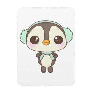 cute little snow day penguin cartoon rectangular magnets