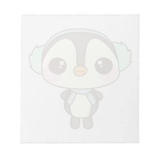 cute little snow day penguin cartoon memo notepads