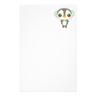 cute little snow day penguin cartoon customized stationery