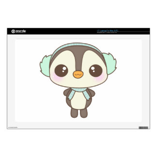 cute little snow day penguin cartoon skin for laptop