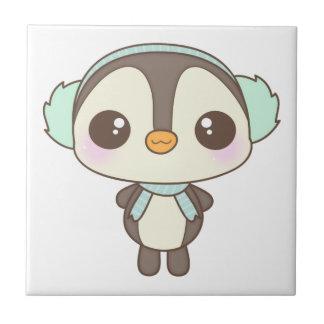 cute little snow day penguin cartoon tiles