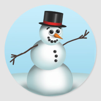 Cute Little Snowman Winter stickers