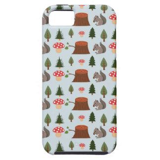 Cute Little Squirrel on Blue iPhone SE/5/5s Case
