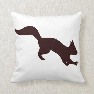 Cute little squirrel throw pillow