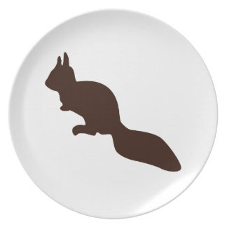 Cute little squirrel party plates