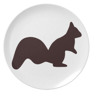 Cute little squirrel dinner plates