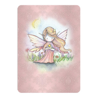 Cute Little Star Fairy Girls Birthday Party Invite