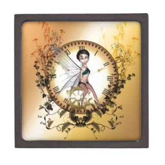 Cute little steampunk fairy gift box