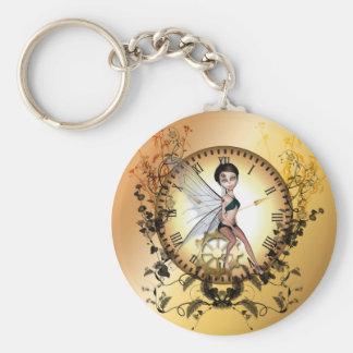 Cute little steampunk fairy keychain