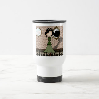 Cute Little Steampunk Girl in Green 15 Oz Stainless Steel Travel Mug