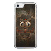 Cute little steampunk owl carved iPhone 8/7 case