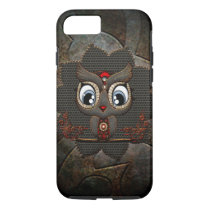 Cute little steampunk owl iPhone 8/7 case
