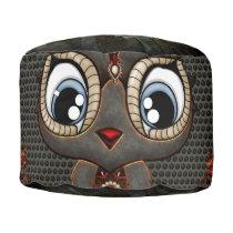 Cute little steampunk owl pouf