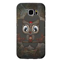 Cute little steampunk owl samsung galaxy s6 case