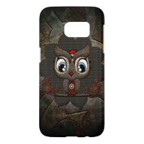 Cute little steampunk owl samsung galaxy s7 case