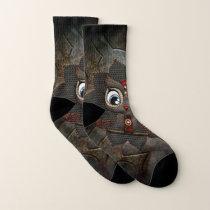 Cute little steampunk owl socks
