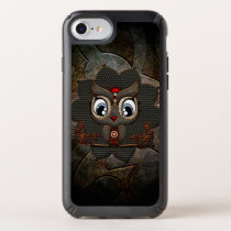 Cute little steampunk owl speck iPhone case