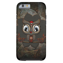 Cute little steampunk owl tough iPhone 6 case