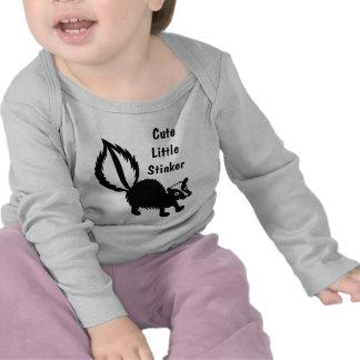 Cute Little Stinker - Adorable Skunk Print Design T-shirts