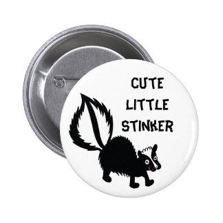 Cute Little Stinker Skunk Print Art Graphic 2 Inch Round Button
