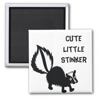 Cute Little Stinker Skunk Printed Art Design Magnet