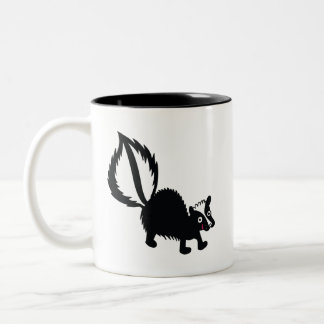 Cute Little Stinker Skunk Printed Art Design Two-Tone Coffee Mug