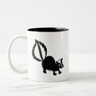 Cute Little Stinker Skunk Printed Art Design Two-Tone Coffee Mug
