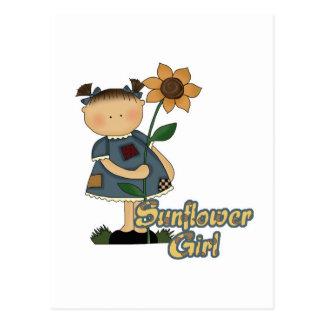 Cute Little Sunflower Girl Postcard