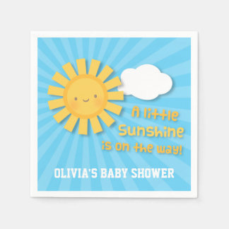 Cute Little Sunshine Baby Shower Supplies Napkin