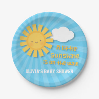 Cute Little Sunshine Baby Shower Supplies Paper Plate