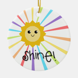 Cute Little Sunshine Shine Ceramic Ornament