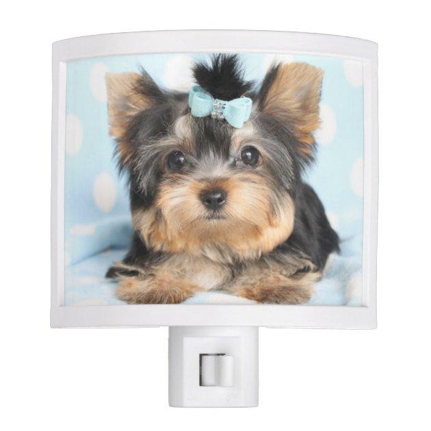 Cute Little Tea Cup Puppy Dog Night Light Zazzle Com