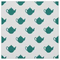 cute little teapots pattern fabric