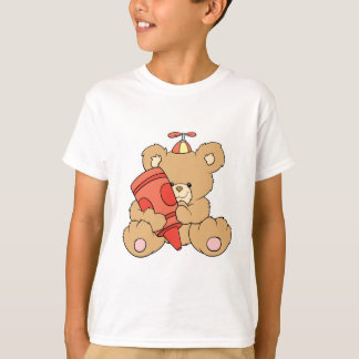cute little teddy bear with red crayon T-Shirt