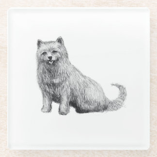 Cute Little Terrier Glass Coaster