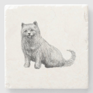 Cute Little Terrier Stone Coaster