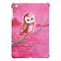 Cute Little Thoughtful Owl iPad Mini Cases