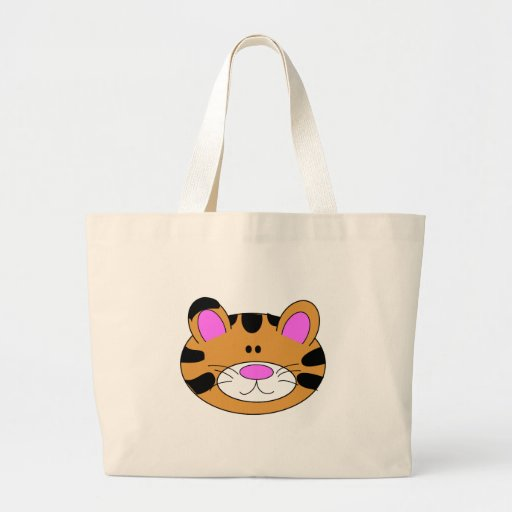 Cute Little Tiger Face Tote Bag