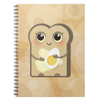 Cute Little Toast - Butter and Egg notebook